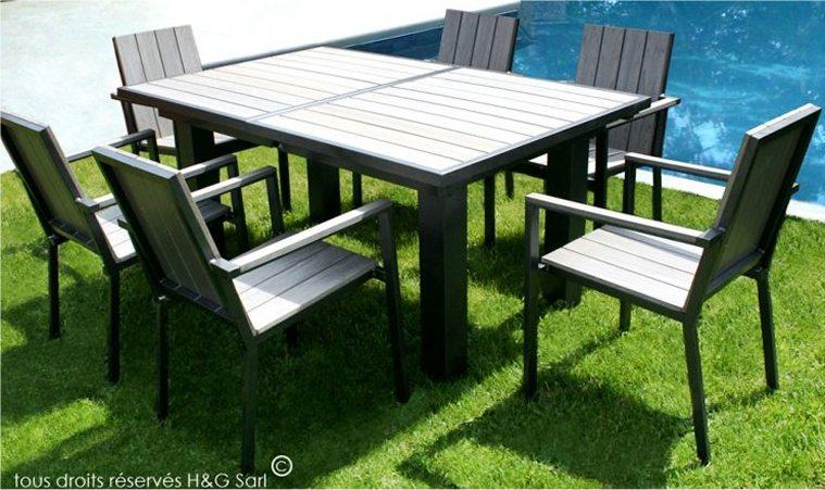 table de jardin a rallonge papillon