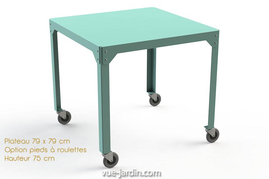 table de jardin a roulette