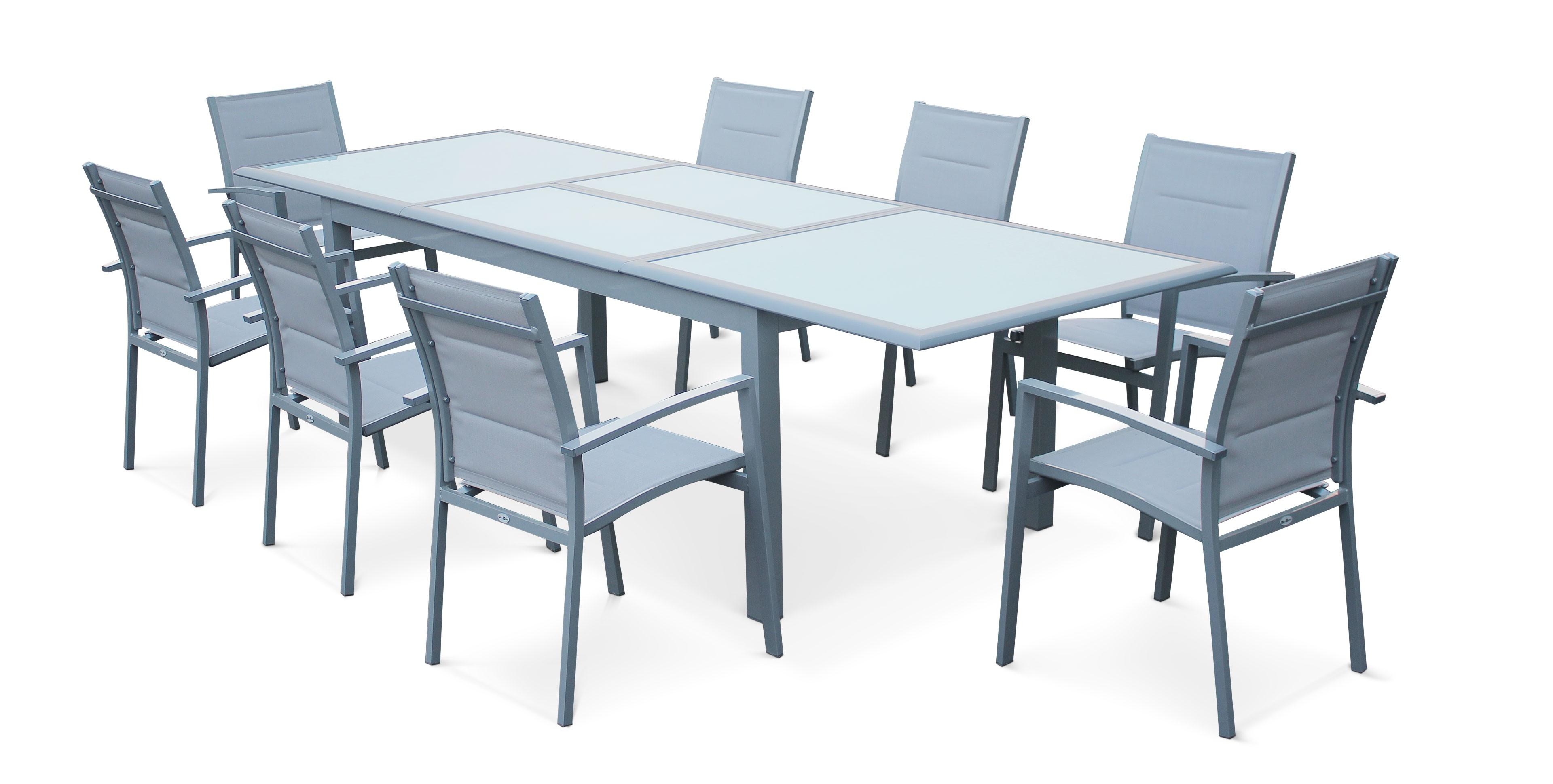 table de jardin alu