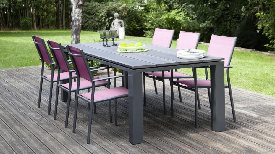table de jardin aluminium jardiland