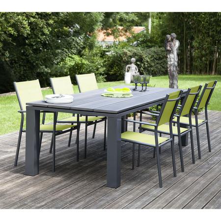 Stunning Table De Jardin Sartene Avec Rallonge En Bois ...