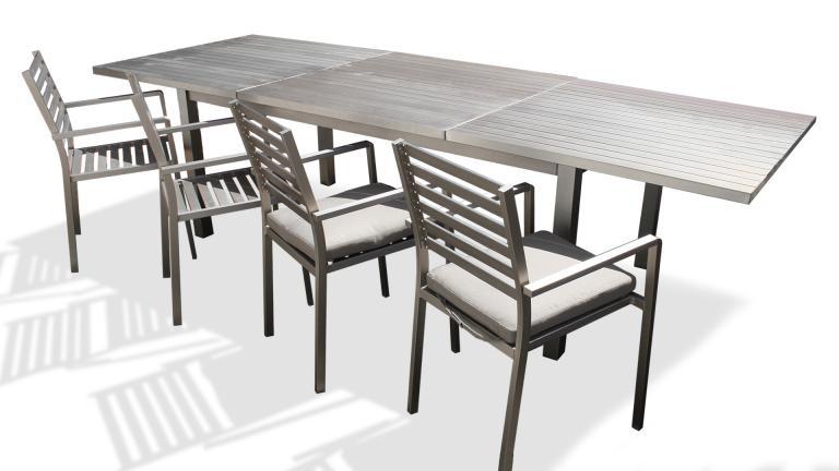 table de jardin avec 2 rallonges
