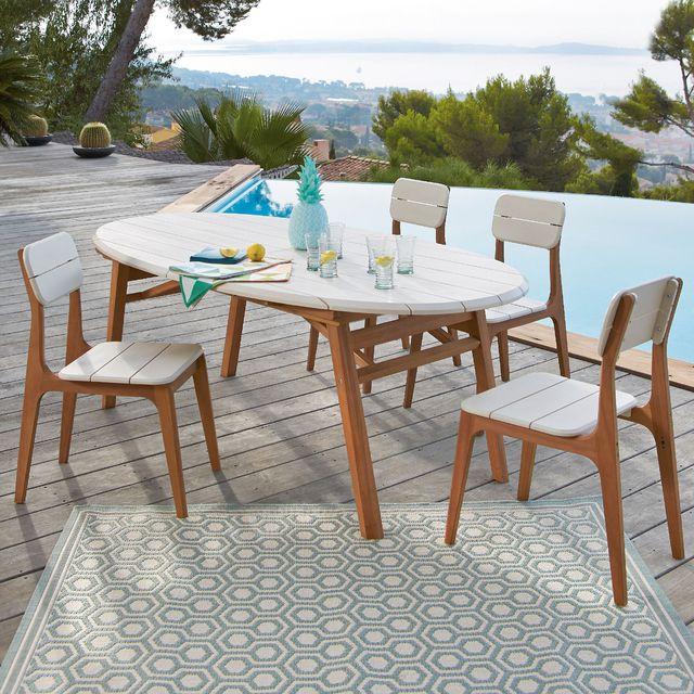 Table De Jardin En Eucalyptus. Salon De Jardin Resine Carrefour ...