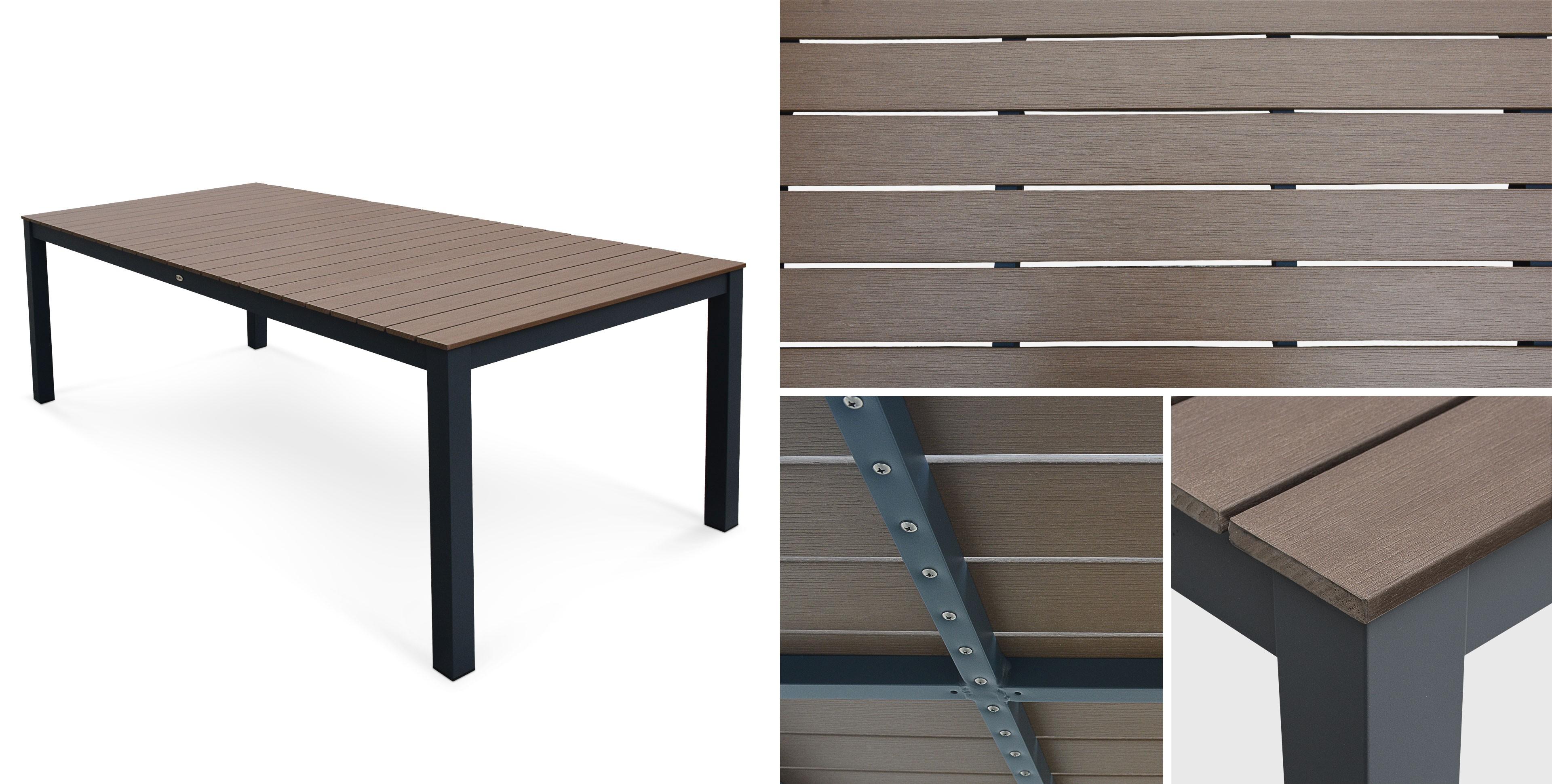 Table De Jardin Carrée Extensible Aluminium Blanc Et ...