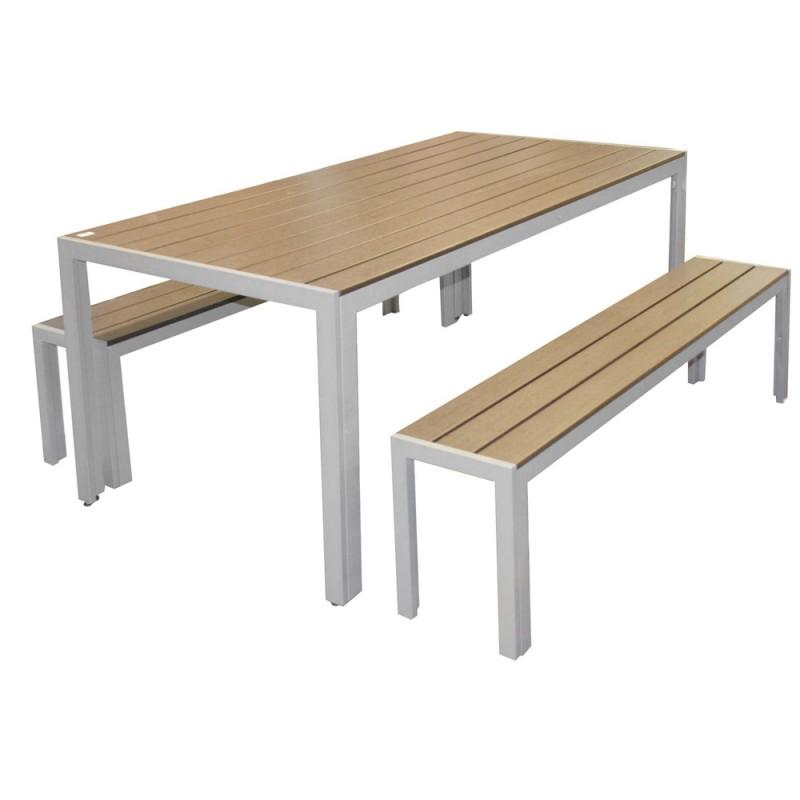 table de jardin avec banc