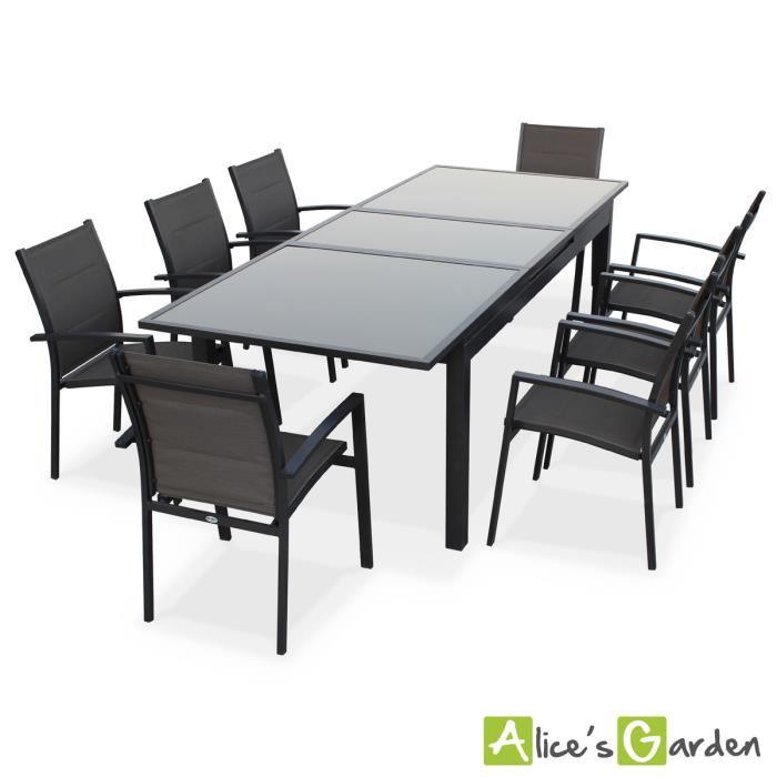 table de jardin avec rallonges