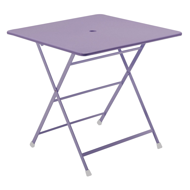 table de jardin avec trou pour parasol