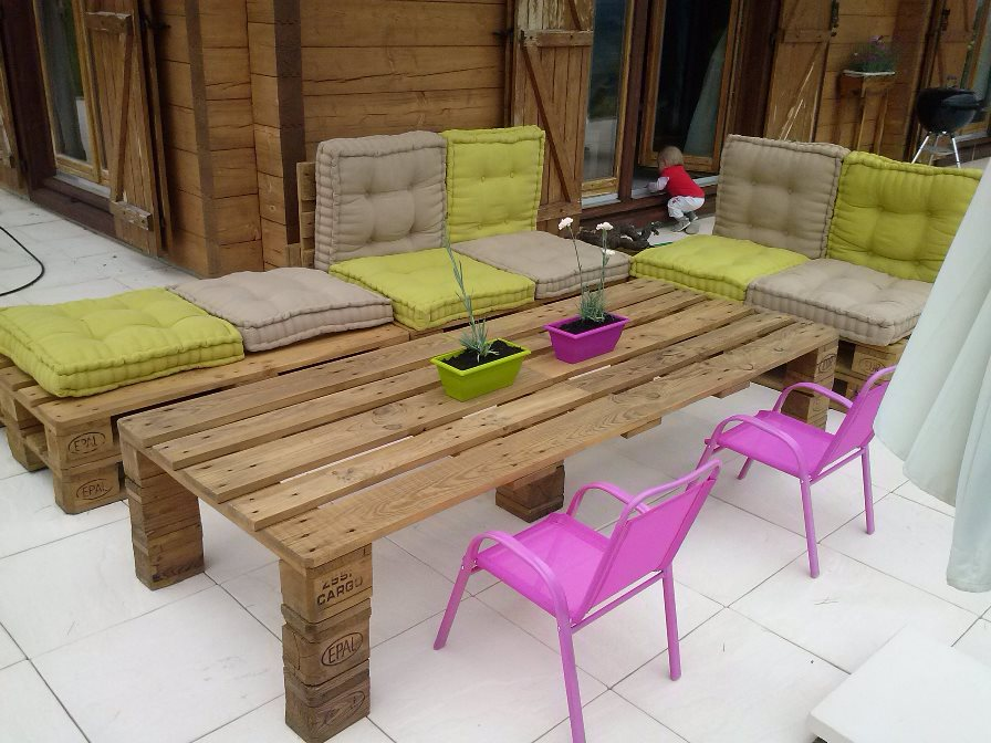 Beautiful Fabrication De Table De Jardin En Palette Pictures ...