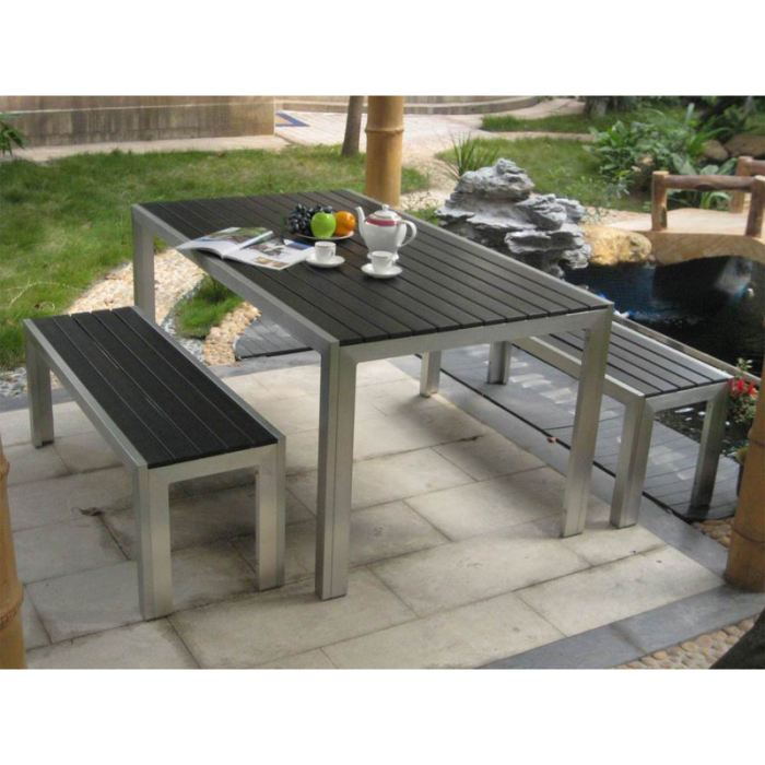 table de jardin banc