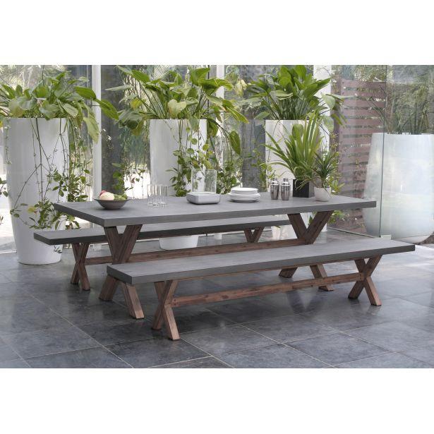 table de jardin beton