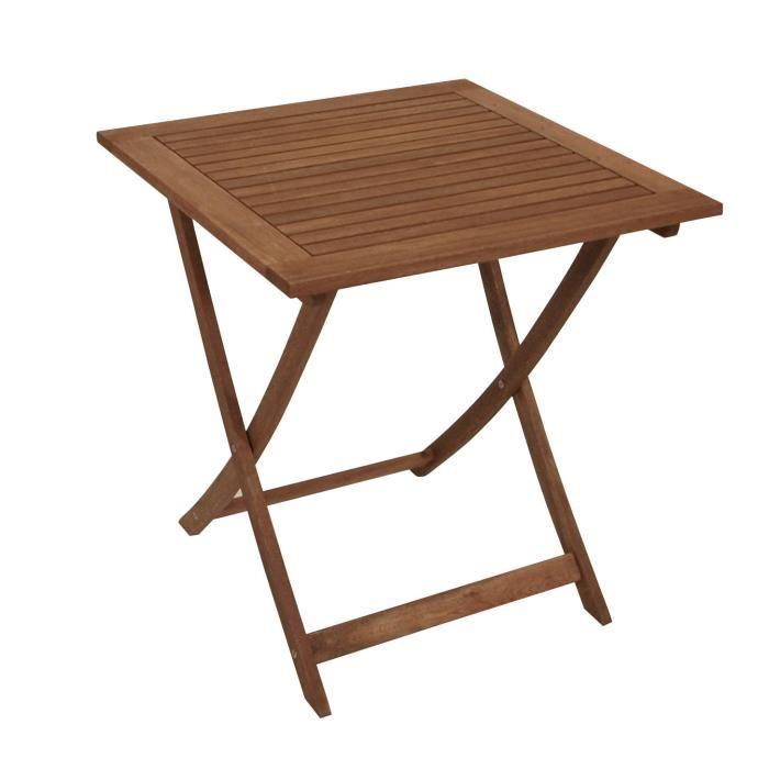 table de jardin bois 70x70