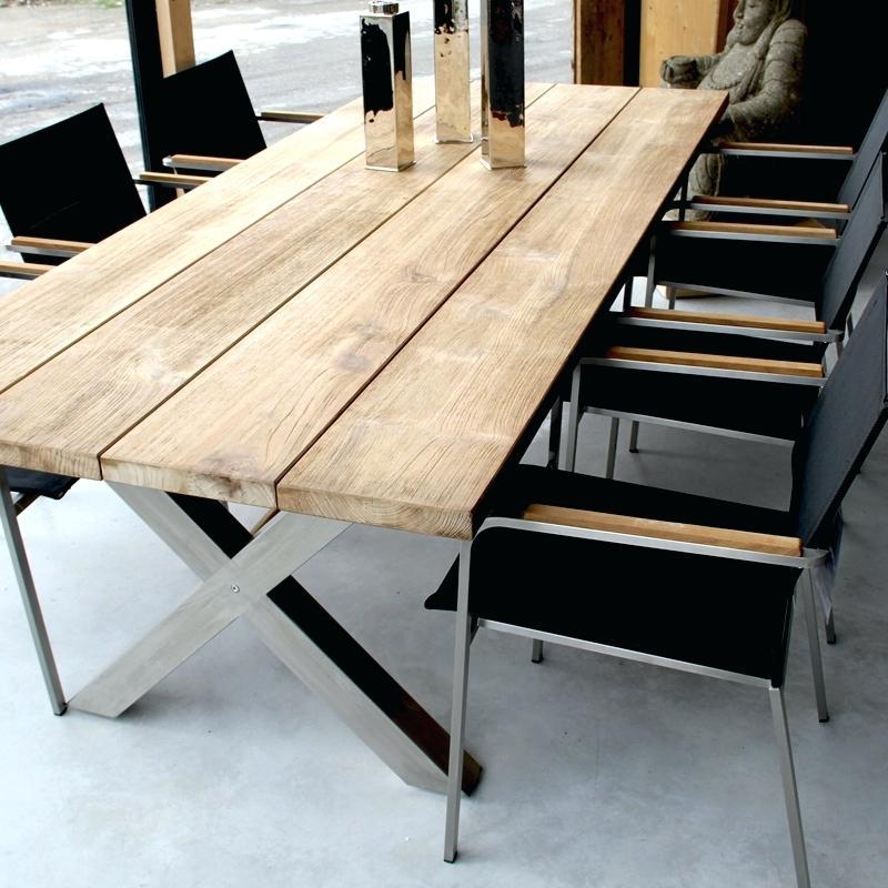 Salon de jardin bois et metal | Nouvel essence