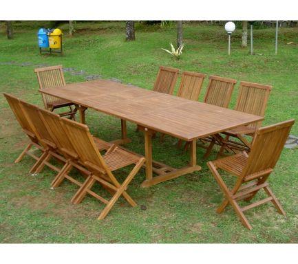 Table en bois de jardin pas cher table ronde de jardin | Brasseriedb