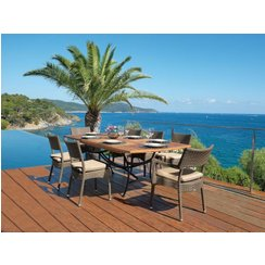 table de jardin bois super u