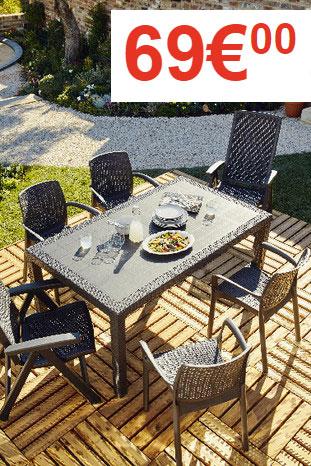 table de jardin brico depot