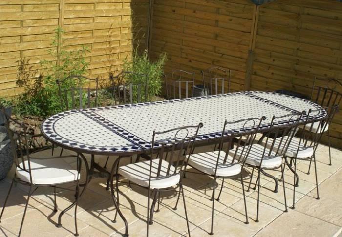 table de jardin ceramique