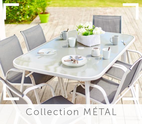 Stunning Salon De Jardin Metal Verre Gallery - House Design ...
