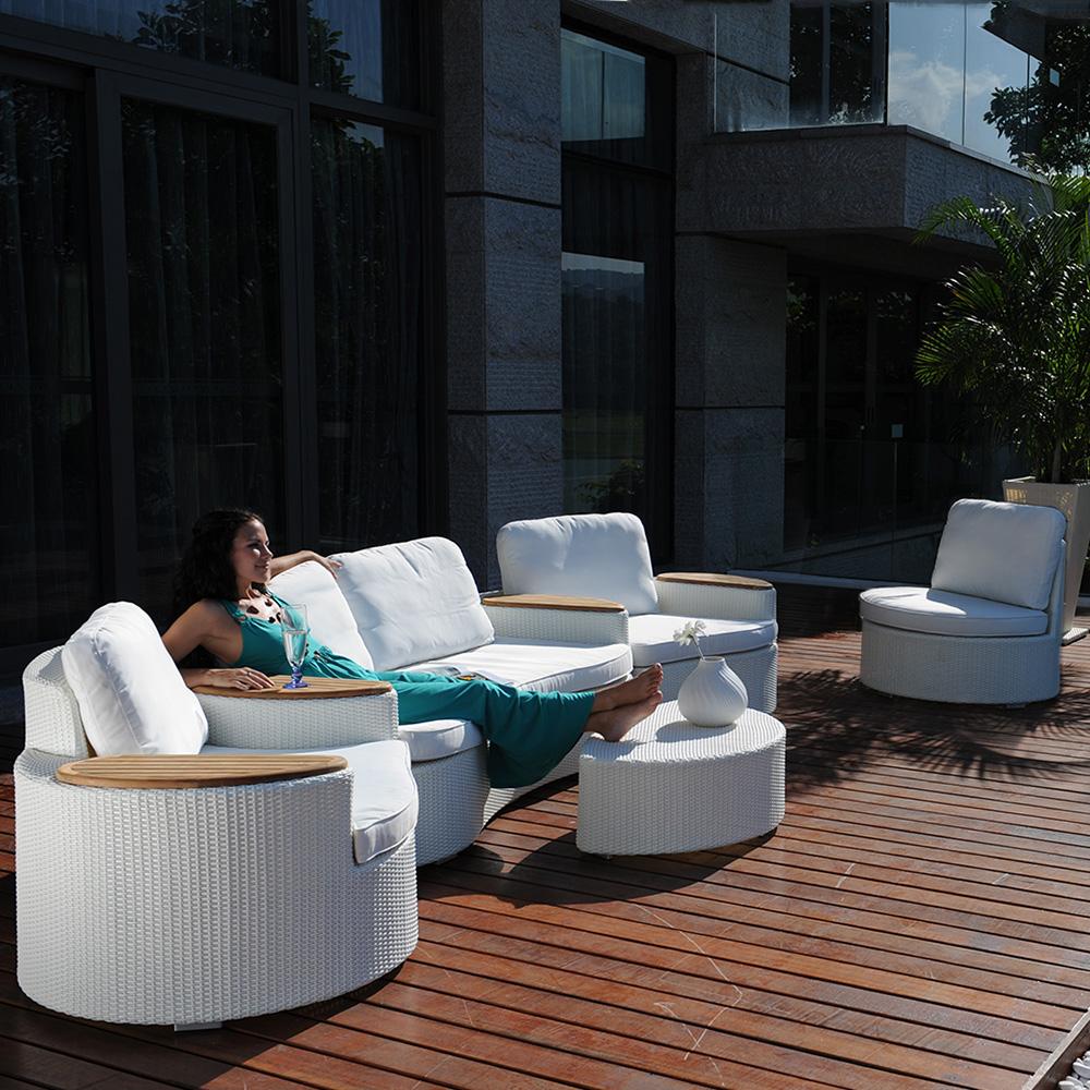 Beautiful Salon De Jardin Design Arrondi Images - House ...