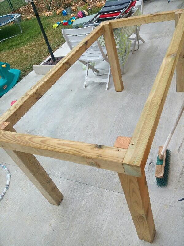 table de jardin diy