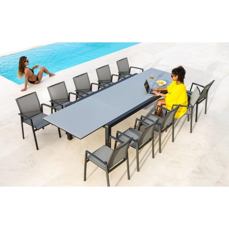 table de jardin domino