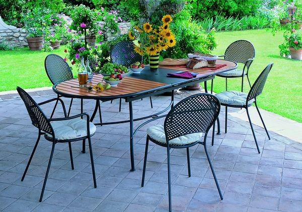 table de jardin domino
