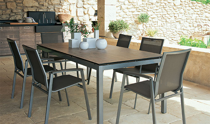 Inoxydable Table Jardin De Acier En uT3F1lJcK