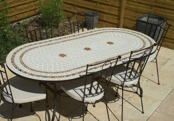 table de jardin en fer forge