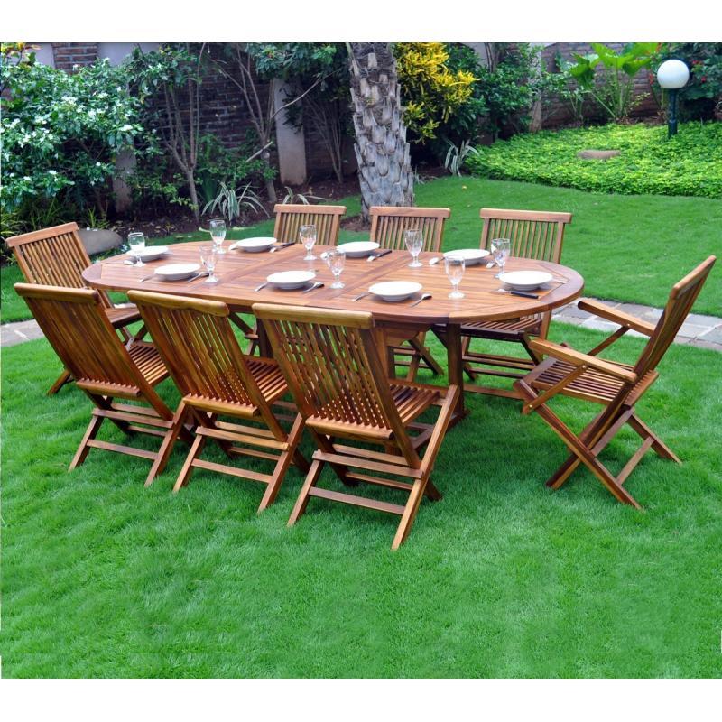table de jardin en teck massif