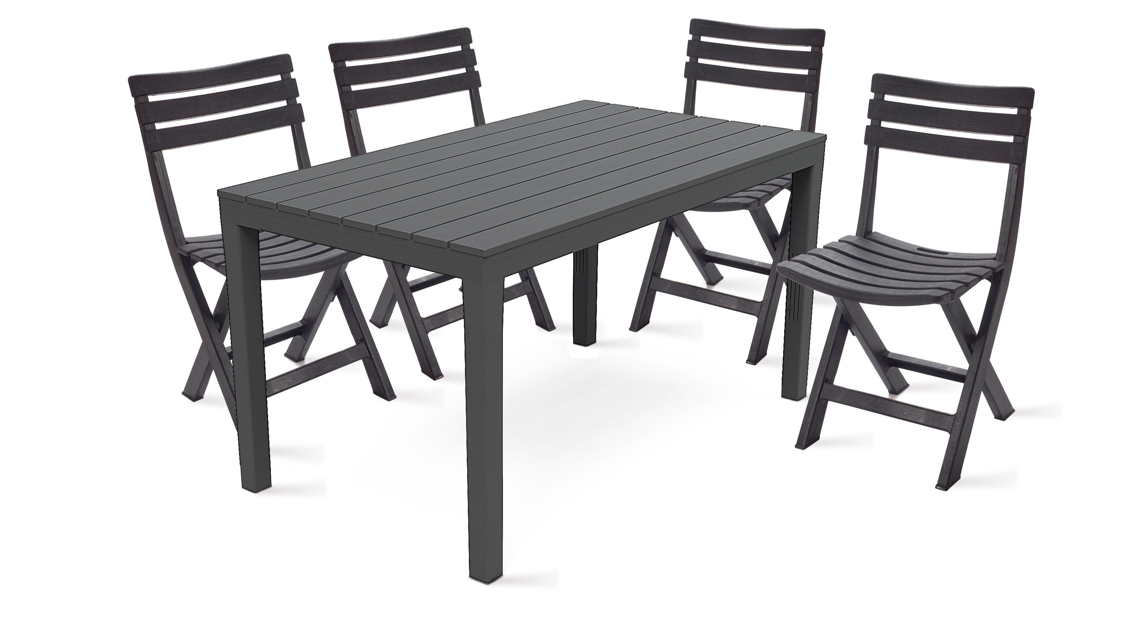 table de jardin et 4 chaises