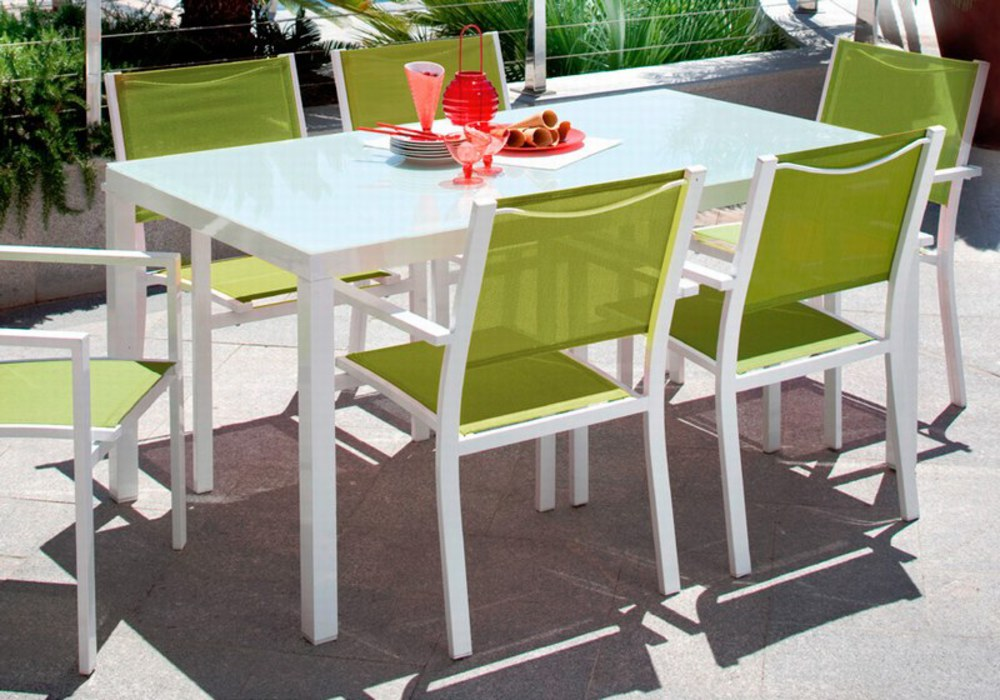 table de jardin et chaise carrefour