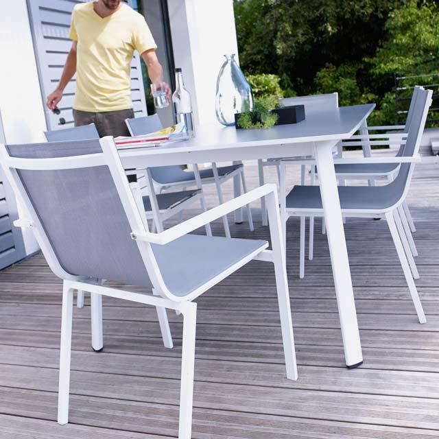 Jardin Avec Aluminium Castorama Rallonge De Stunning Table ...
