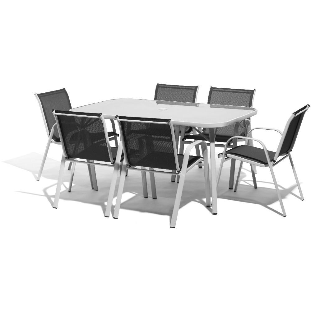 table de jardin et chaises gifi