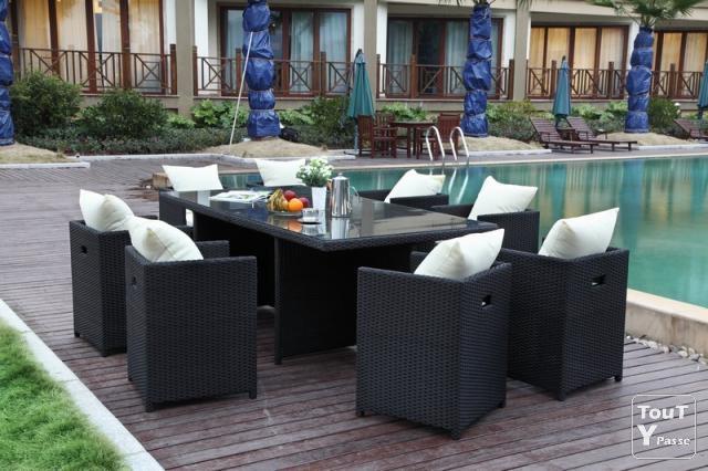 table de jardin et chaises leclerc