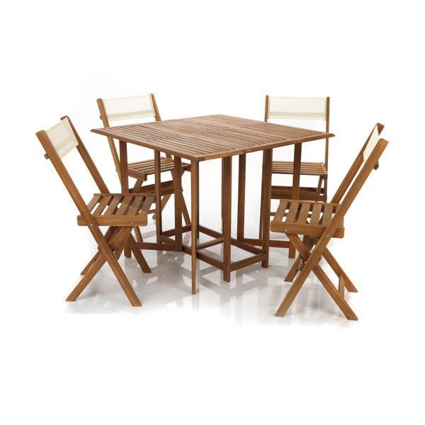 table de jardin et chaises pliantes