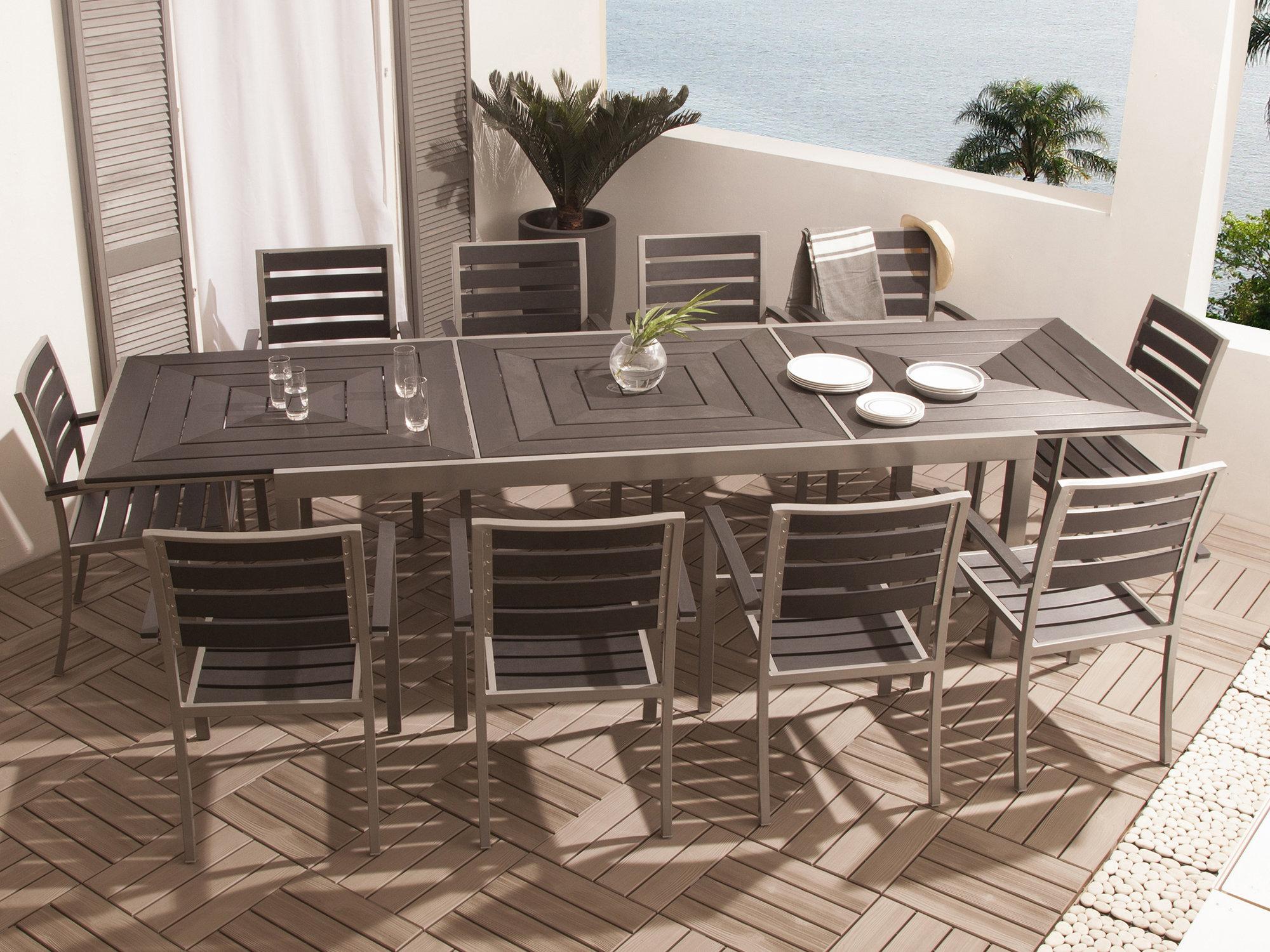table de jardin extensible 10 personnes