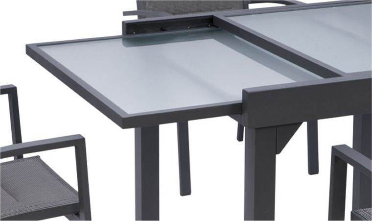 table de jardin extensible 6-10 places alu volupto