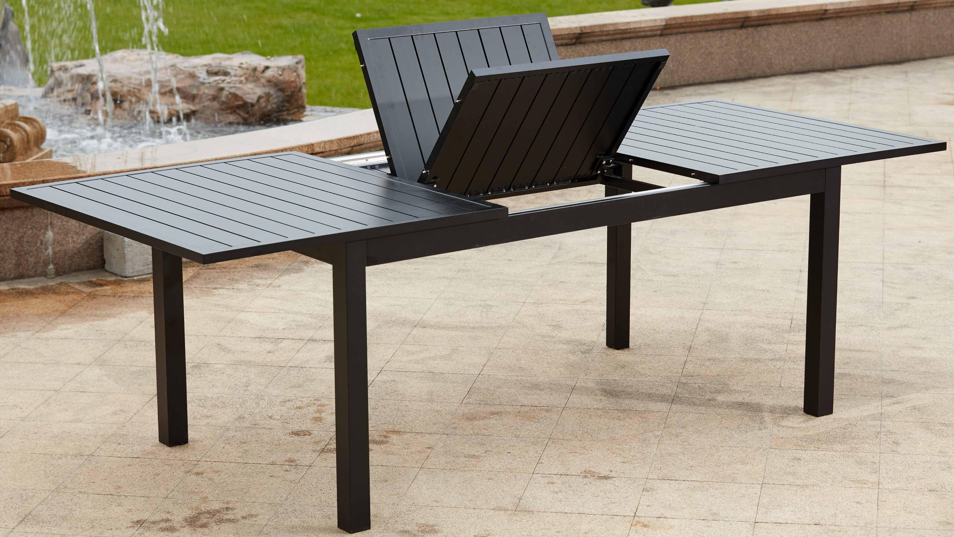 table de jardin extensible 6-10 places alu volupto