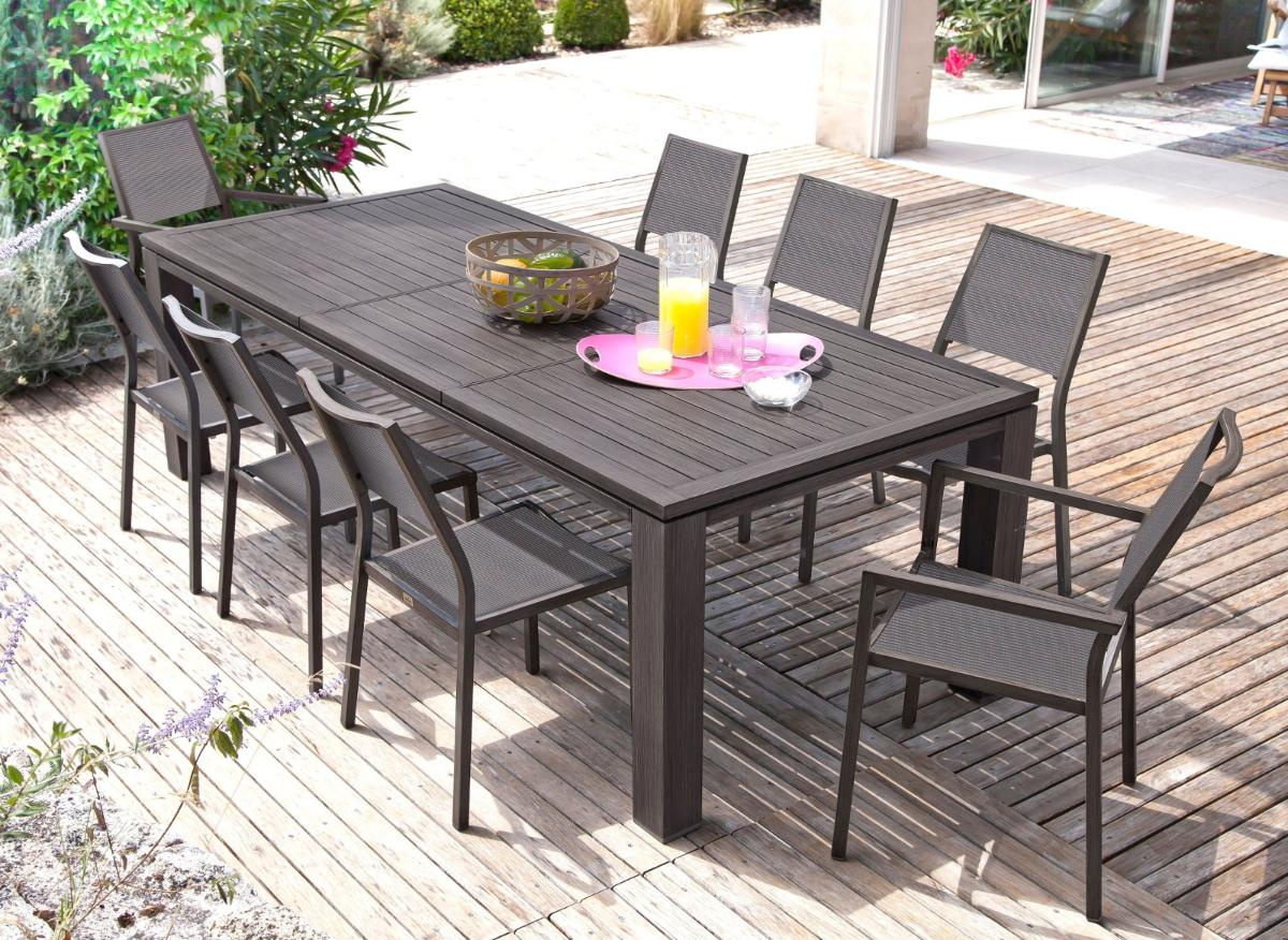 table de jardin extensible jardiland