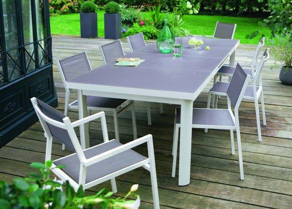 table de jardin extensible jardiland