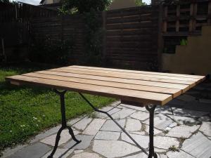 table de jardin fait maison