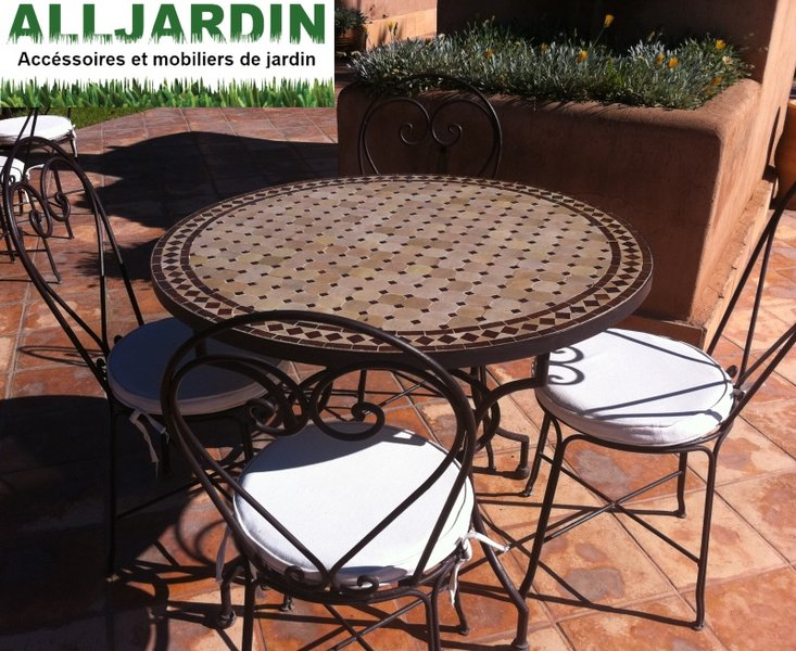 De Jardin Fer Mosaique Mw0vnn8 Et Forge Table 0NO8nvwm