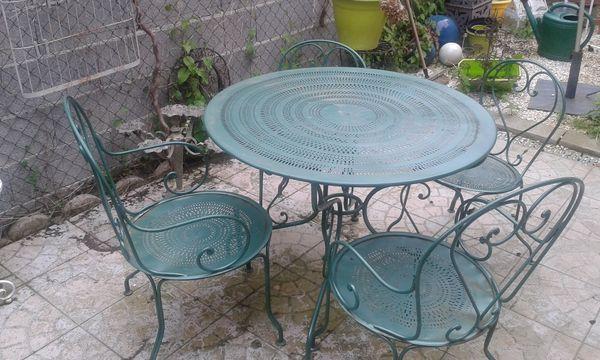 table de jardin fer forge occasion