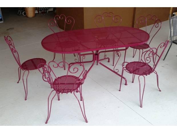 Table Occasion De Forge Jardin Fer rxdthCsQ