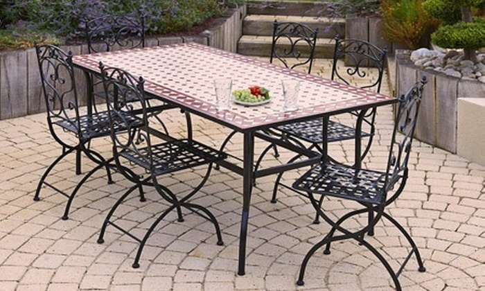 table de jardin fer forge occasion