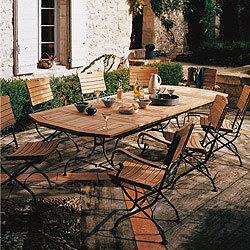 table de jardin fer forge