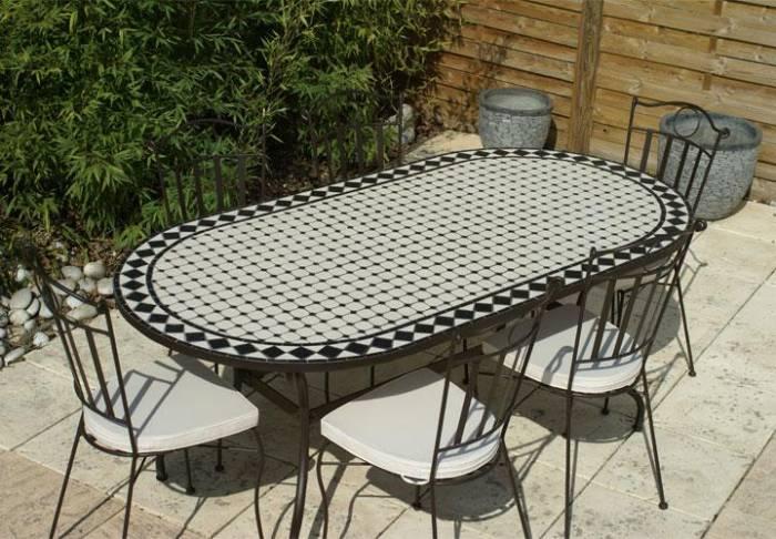 table de jardin fer