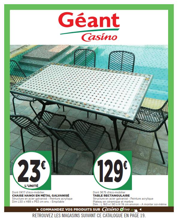 table de jardin geant casino