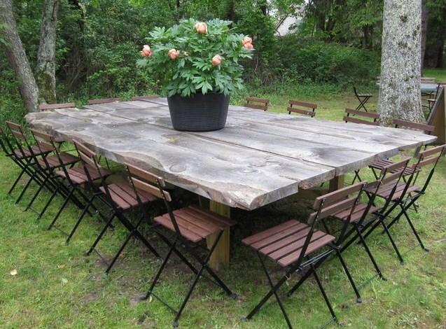table de jardin grande taille