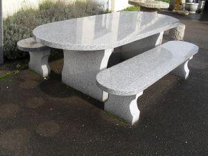 table de jardin granit