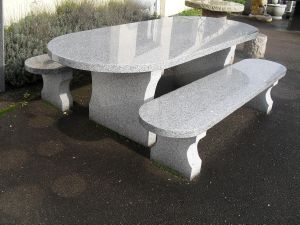 table de jardin granite